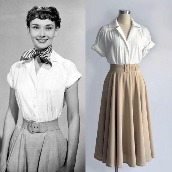 Phân cảnh huyền thoại của Audrey cùng chiếc midi skirt huyền thoại trong bộ phim Roman Holidays nổi tiếng.