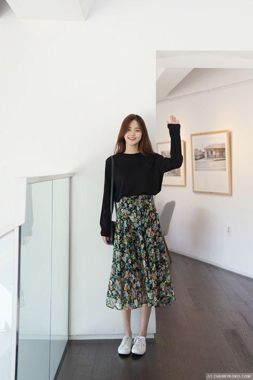 Chân váy midi là gì? Cách phối chân váy midi với áp phông