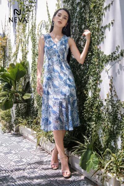 các mẫu váy hoa đẹp, các kiểu váy hoa đẹp, xu hướng váy đầm nữ, váy hoa đẹp, áo đầm hoa