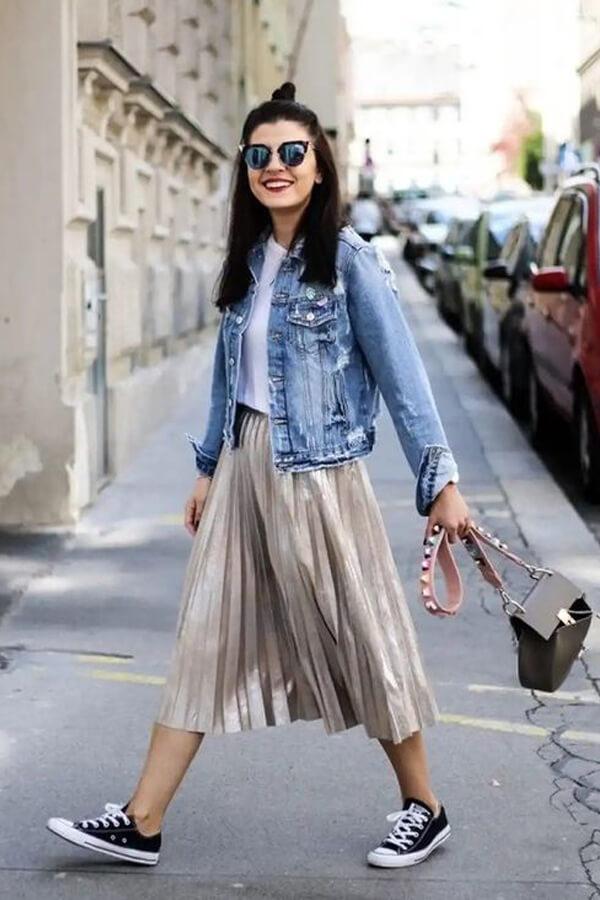 Thời trang nữ: Cách phối đồ với chân váy xếp ly dài Cach-phoi-do-voi-chan-vay-xep-ly13