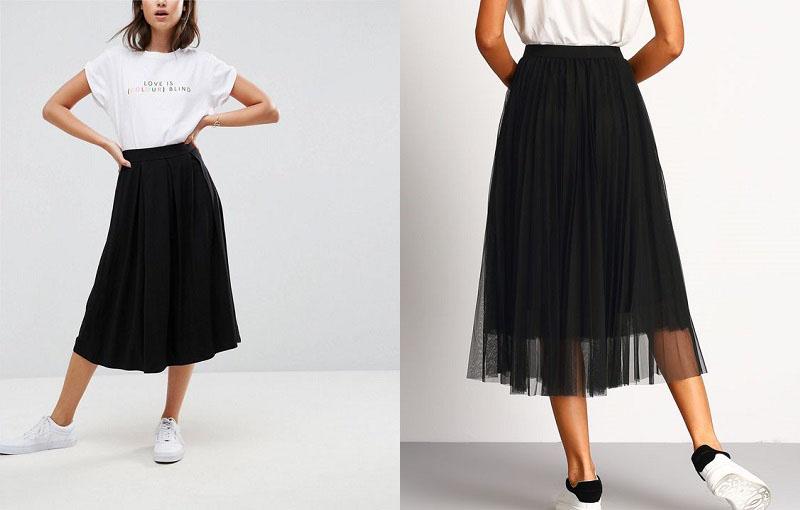 chân váy đen mặc với áo gì, chân váy đen mặc với áo gì mùa đông, chân váy đen mặc với áo màu gì, chân váy đen mix với áo gì, chân váy đen phối với áo gì