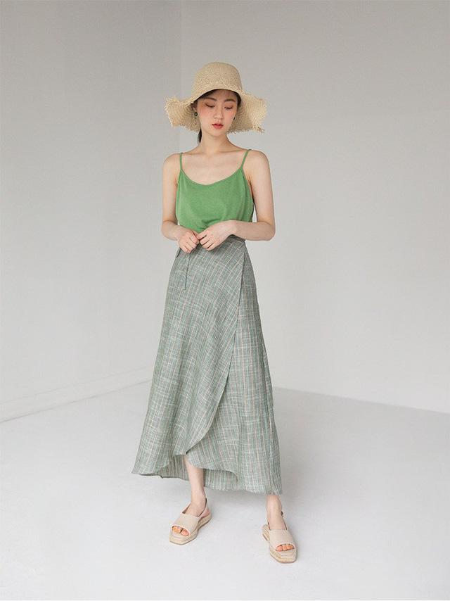 chân váy midi là gì, mix đồ với chân váy midi, chân váy midi kết hợp với áo gì 7