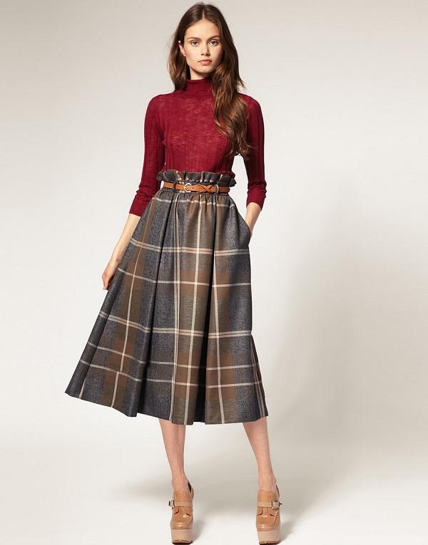 chân váy midi là gì, mix đồ với chân váy midi, chân váy midi kết hợp với áo gì 3