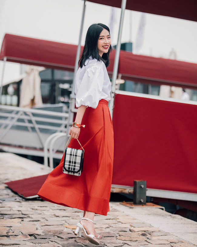chân váy vintage mặc với áo gì, chân váy vintage, chân váy vintage cổ điển, chân váy vintage đẹp, chân váy cổ điển