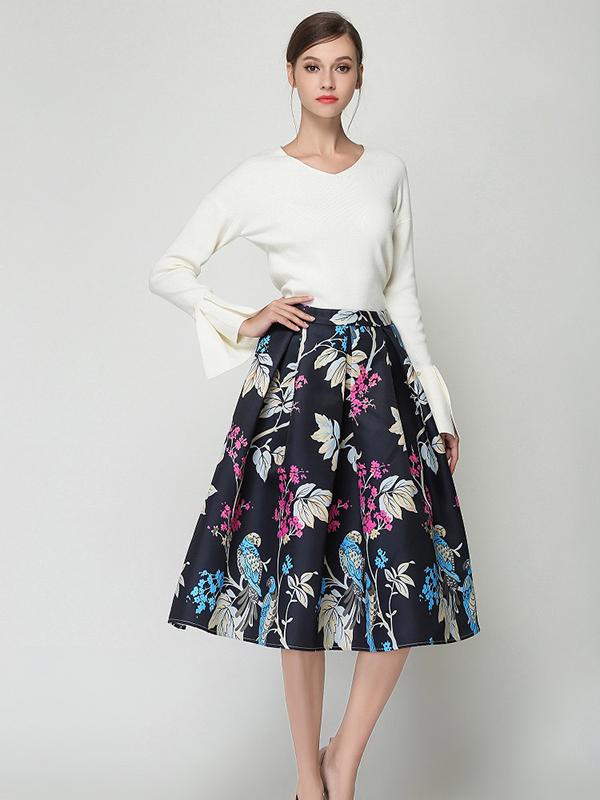 chân váy xòe kết hợp với áo sơ mi, chân váy xòe kết hợp áo sơ mi, kết hợp áo sơ mi và chân váy xòe, áo sơ mi kết hợp với chân váy xòe