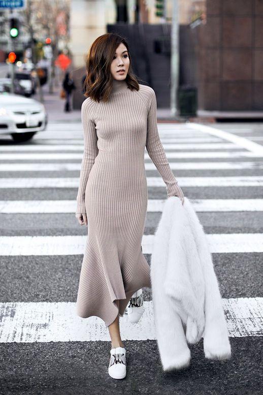 đầm len mùa đông, mẫu đầm len mùa đông, đầm len cho mùa đông, các kiểu đầm len mùa đông
