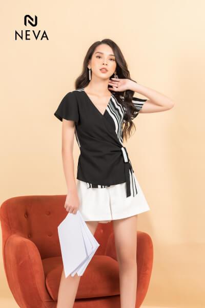 quần short vải nữ hàn quốc, quần short nữ hàn quốc, quần short vải nữ, các kiểu quần vải nữ đẹp, quần short nữ kết hợp với áo gì, mix đồ với quần short vải, quần short nữ kiểu hàn quốc