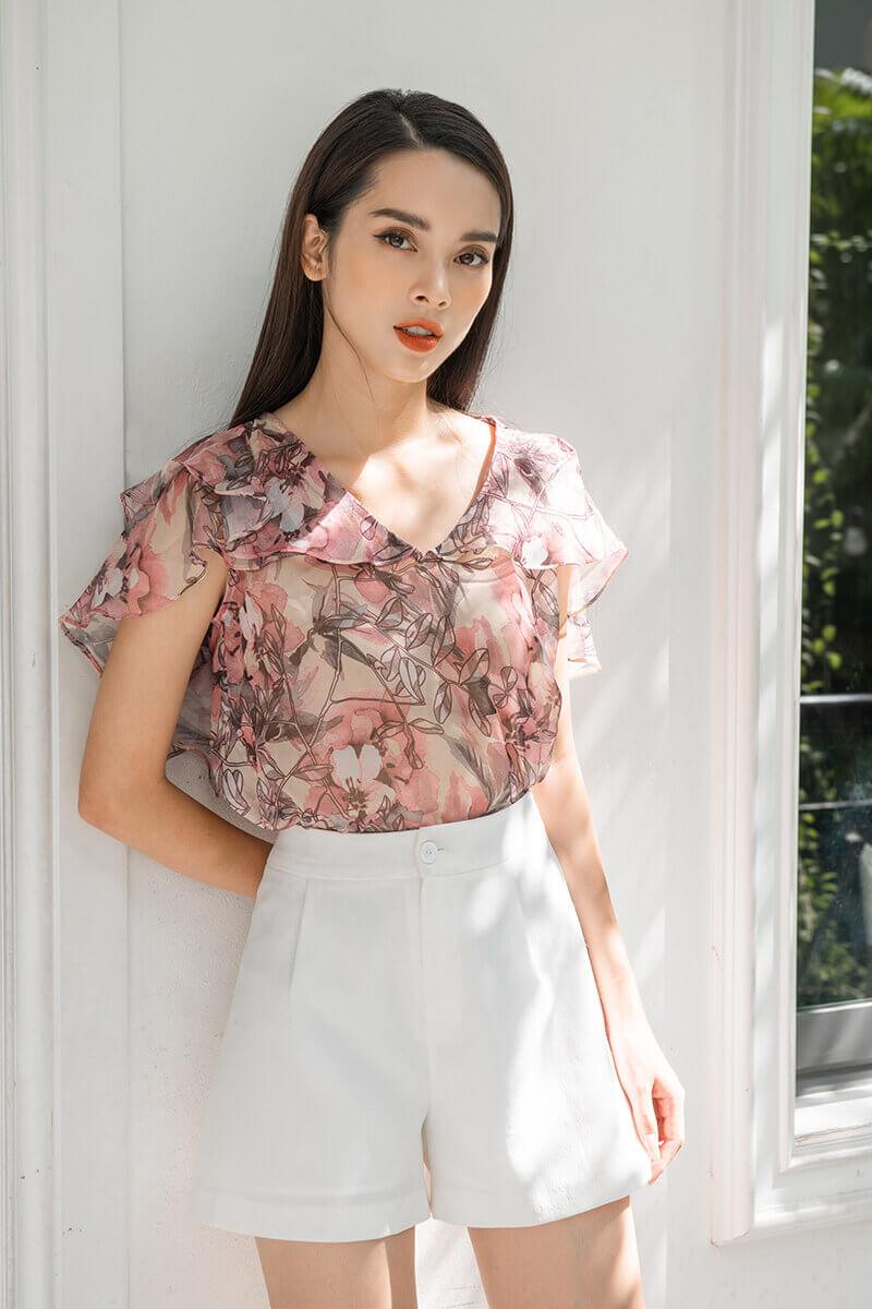 các kiểu áo sơ mi hoa nữ đẹp,những mẫu áo hoa nhí đẹp,mẫu áo sơ mi nữ đẹp 2019,kiểu áo sơ mi voan hoa nữ,áo sơ mi hoa nhí Hàn Quốc,các mẫu áo sơ mi hoa nữ đẹp
