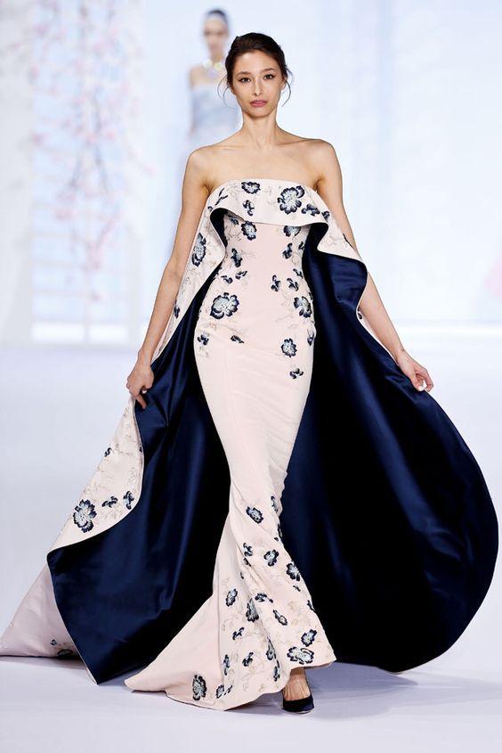 Váy đầm dạ hội thu đông đuôi cá
