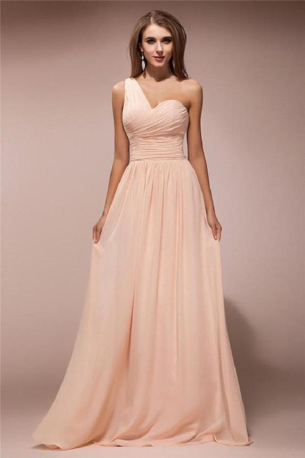 Váy đầm dạ hội u50 kiểu dáng lệch vai