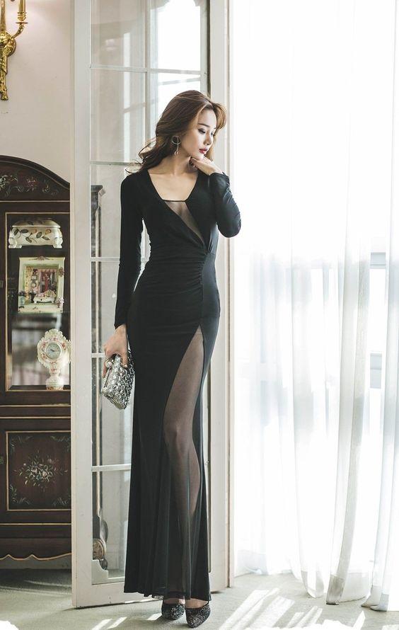 mẫu váy đầm dài tay, các mẫu váy đầm tay dài, váy đầm tay dài đẹp