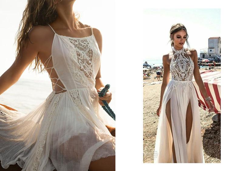 Váy đầm maxi xẻ tà mang hơi thở quá khứ kết hợp với xu hướng hiện đại