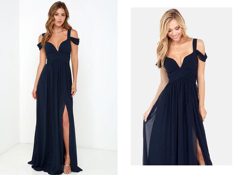 Hãy trở nên quyến rũ và sexy cùng với mẫu váy đầm maxi xẻ tà trễ vai