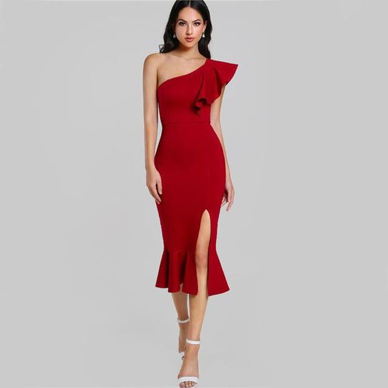 Các mẫu váy lệch vai sang trọng, mẫu váy lệch vai đẹp, mẫu đầm lệch vai đẹp, đầm lệch vai sang trọng