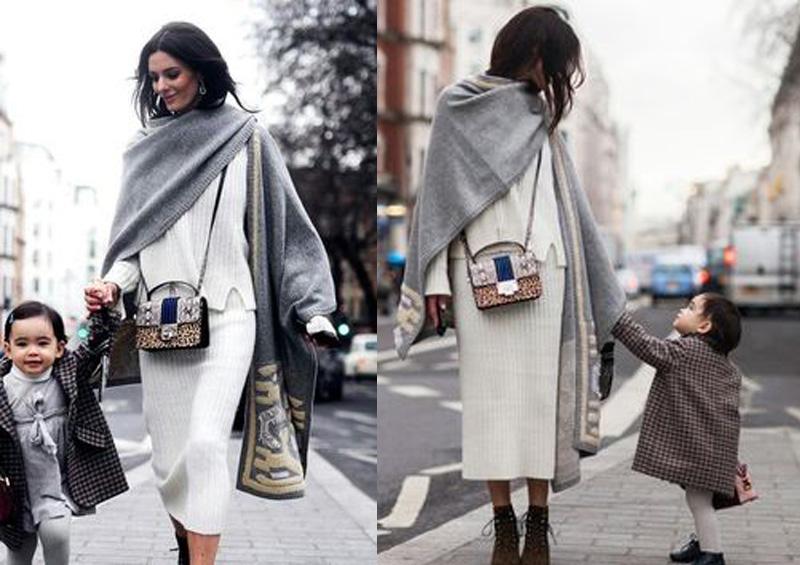 Váy len suông mùa đông rời thân